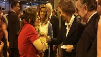 Queen Sofia Adopts Abandoned Puppy