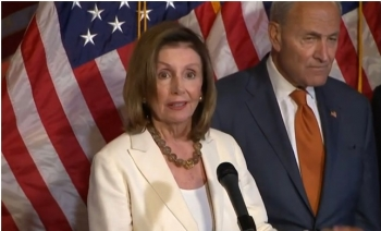 Pelosi and Schumer Tell Trump Gun Legislation without Background Checks 'Will Not Get the Job Done'