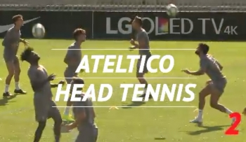 Head Tennis: Atletico's Costa and Felix Go Head-to-Head in Training