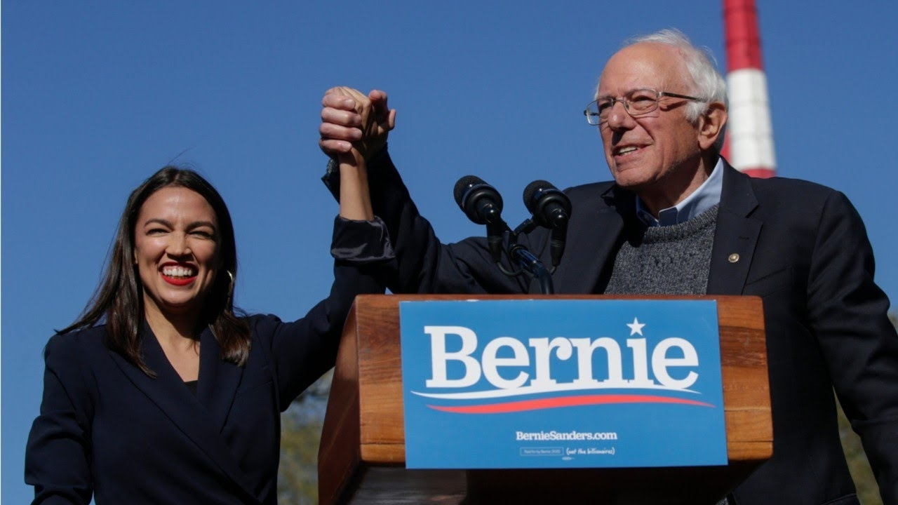 Sanders' New Ad Includes Alexandria Ocasio Cortez's Endorsement