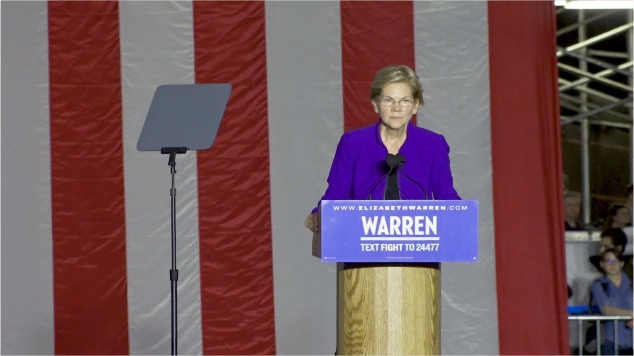 Wealth Tax Sending Warren Into Nosedive