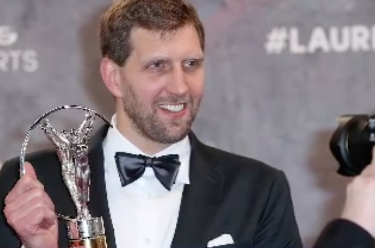 NBA: Dirk Nowitzki Honored to Win Laureus Lifetime Achievement Award