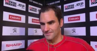 Federer delighted after landmark victory in hometown