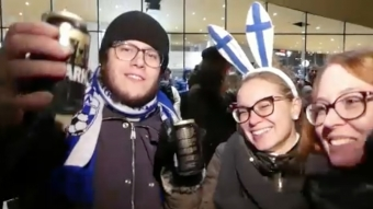 Euro 2020 Qualifiers: Finland Fans Celebrate Qualification