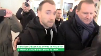 Serie A: Eriksen Arrives in Milan for Inter Medical