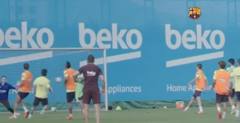 La Liga: Messi Sends Warning with Precise Finish in Barcelona Training