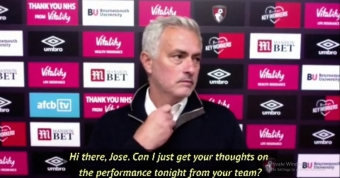 Mourinho walks out of Spurs news conference due to technical difficulties