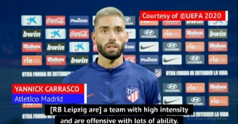 Atletico's Carrasco praises Leipzig's youngsters ahead of UCL clash
