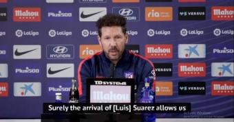 Simeone hopes Suarez continues Barcelona statistics at Atletico