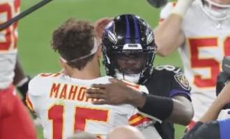 NFL: Baltimore Ravens MPV Lamar Jackson Describes Kansas City Chiefs QB Patrick Mahomes Performance in One Word