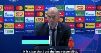 Zidane takes responsibility for Real Madrid's shock defeat to Shakhtar