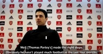 Arteta hopes Partey will be ready for Arsenal start