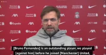 Klopp praises Man United's 'difference maker' Fernandes