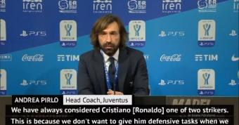 I don't want Ronaldo to waste energy defending - Pirlo