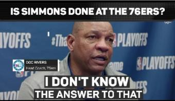 Simmons head on the block as 76ers crash out