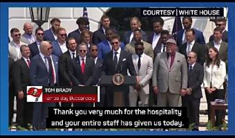 Brady and Biden share election jibes at White House