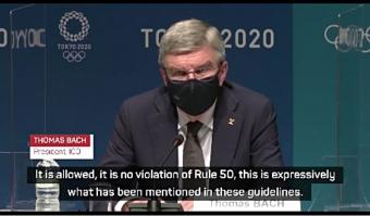 Athletes allowed to take the knee during Olympic Games - IOC President