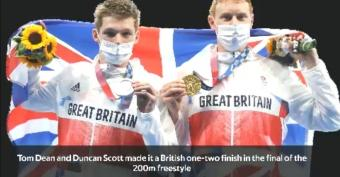 Dean and Scott make it a Team GB one-two in 200m freestyle