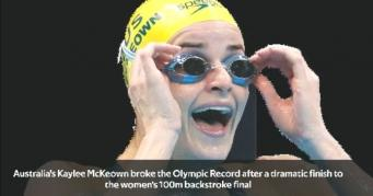 McKeown breaks the Olympic Record in a dramatic 100m backstroke final