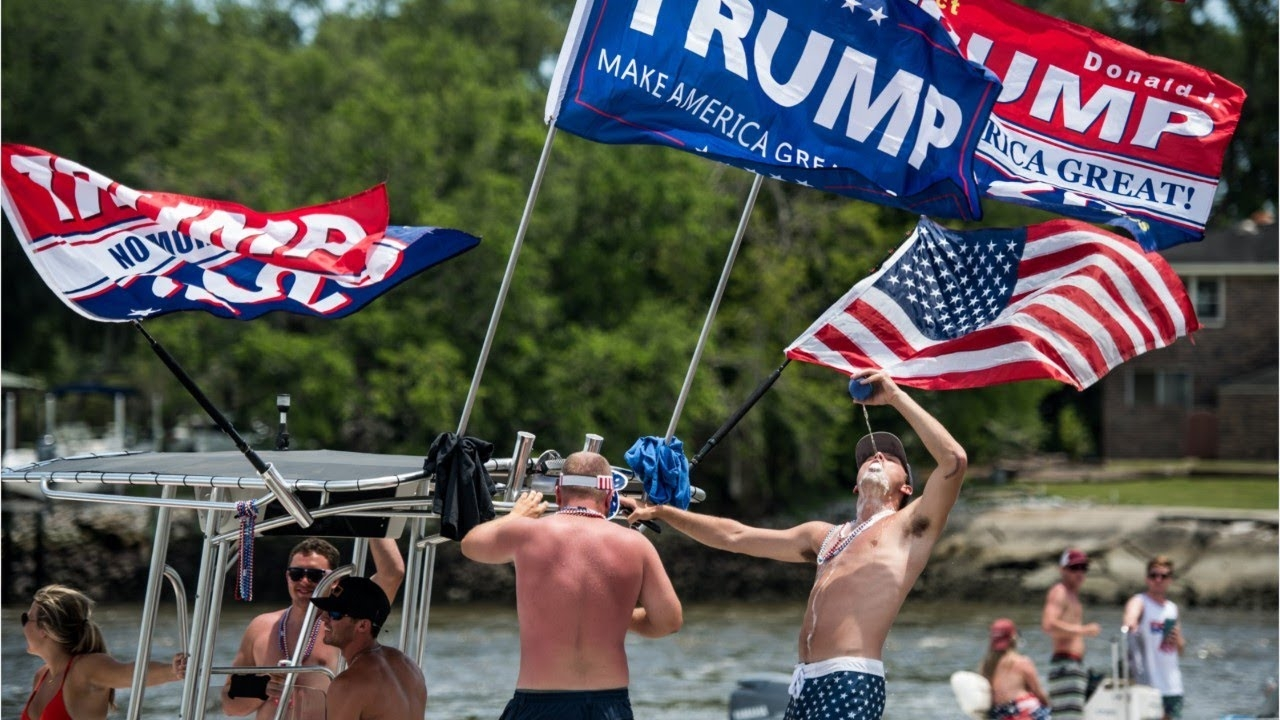 MAGA Boat Parade Draws Hundreds, Most Without Masks