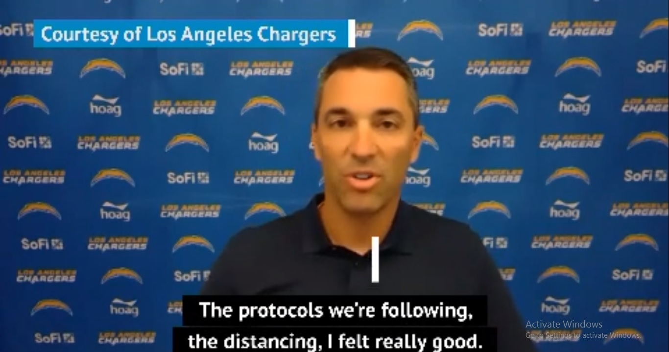 Chargers GM optimistic on the season despite recent positive coronavirus tests