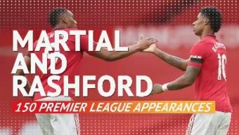 Soccer: Manchester United's Anthony Martial and Marcus Rashford Reach 150 Premier League Appearances