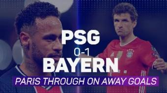 Soccer: PSG 0-1 Bayern; Parisiens Through on Away Goals After Dramatic Second Leg