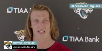 NFL: No. 1 Overall Pick Trevor Lawrence Excited by His Progress With the Jacksonville Jaguars