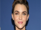 Ruby Rose Dyed Her Buzz Cut, Half Blue and Half Pink Hair