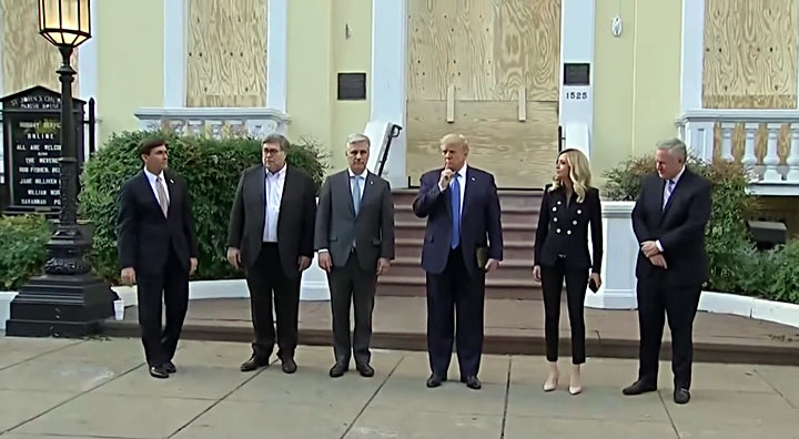 Esper Says He Didn't Know Where He Was Going When Walking with Trump to Church