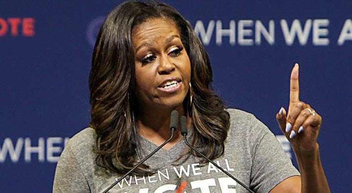 Former first lady Michelle Obama condemns \'Partisan and Unpatriotic\' efforts to limit voting